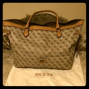 Guess monogrammed tote.